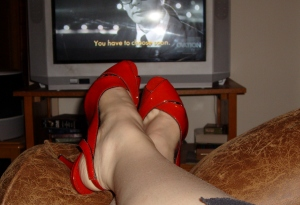 Me, a Fellini movie, and my fire engine red patent leather shoes on a Saturday night.