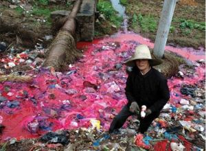 Polluted River China