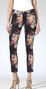 Floral Cropped pants from Cache