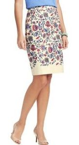 Floral Vines Skirt from Loft