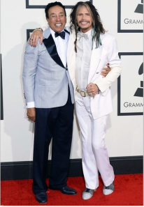 Smokey Robinson and Steve Tyler at Grammys 2014