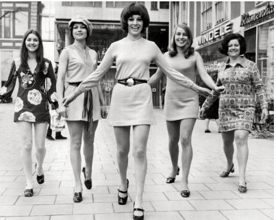 In the 60's it was mini-skirts for all.
