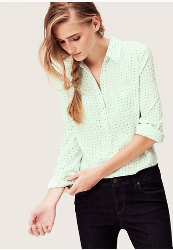 Mini Square print blouse from Loft.com will easily go from winter to spring