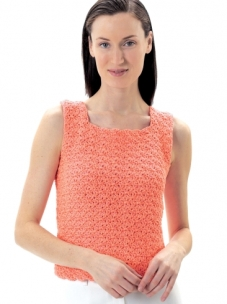 This is the simple to crochet tank.  My proportions are quite a bit different from the model's. See below for the link to the pattern