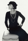 Coco Chanel showing the world how to wear her original Little Black Dress, 1926